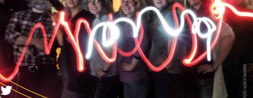Lightpainting-Bild Zertifikatskurs Medienpädagogische Praxis #mepps