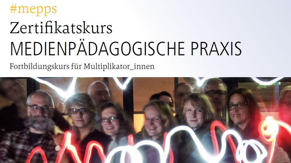 #mepps20 - Zertifikatskurs Flyer Medienpädaogische Praxis