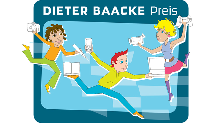 Das Bild zeigt das Logo des Dieter Baacke Preises.