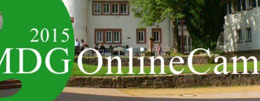 Einladung zum MDG Online-Camp