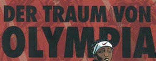 """Auszug des Titelbildes des Buches """"Der Traum von Olympia"""", für den Autor Reinhard Kleist mit dem Katholischen KInder- und Jugendbuchpreis ausgezeichnet wurde"""