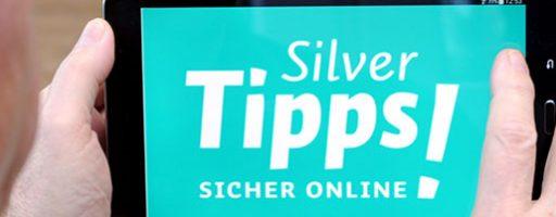 Tablet mit dem Schriftzug Silver Tipps – sicher online!
