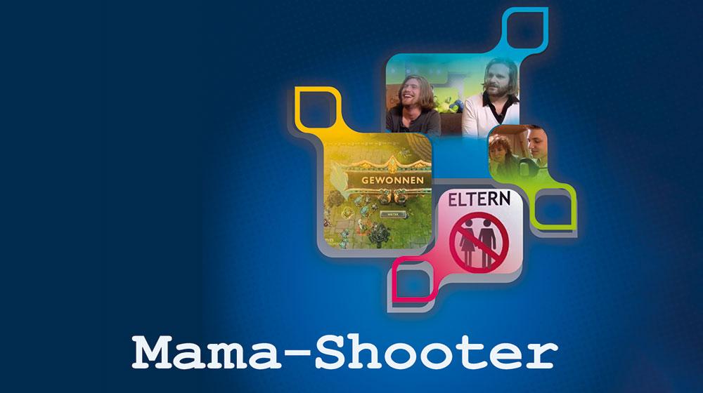 """Cover Ausschnitt """"Mama shooter"""" - Computerspiele"""