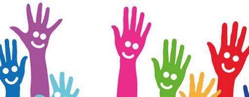 bunte Hände als Symbolbild für Inklusion