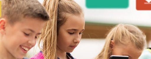 Kinder mit Tablets; Symbolbild für die Ergebnisse der DIVSI U9-Studie