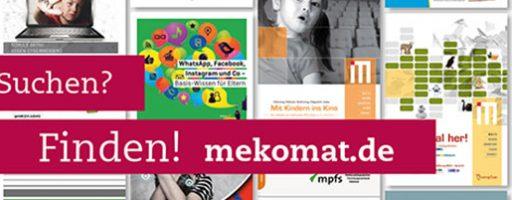 Die Abbildung zeigt unseren Mekomat-Flyer.