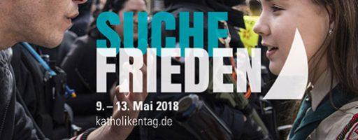 """""""Suche Frieden"""": Ankündigungsbild Katholikentag"""