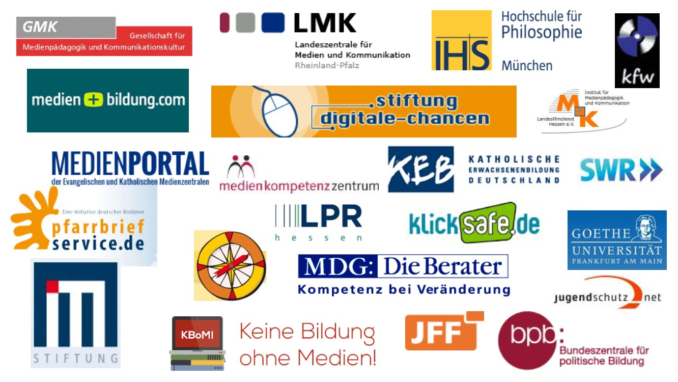 Collage Logos Kooperationspartner Clearingstelle Medienkompetenz