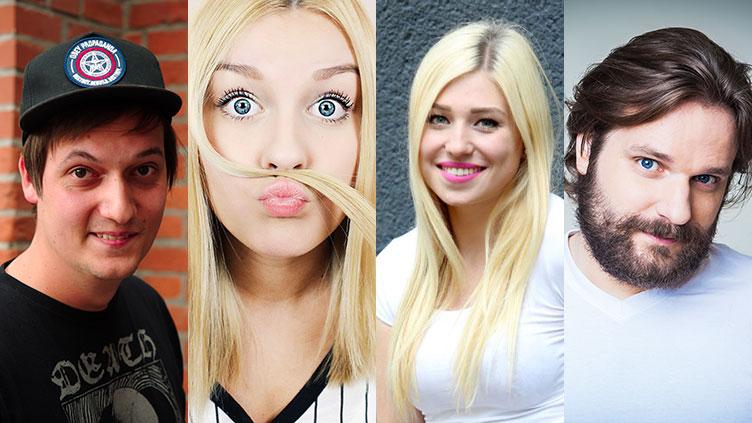 Montage beliebter YouTuberInnen: Symbolbild für die JIM-Studie 2015