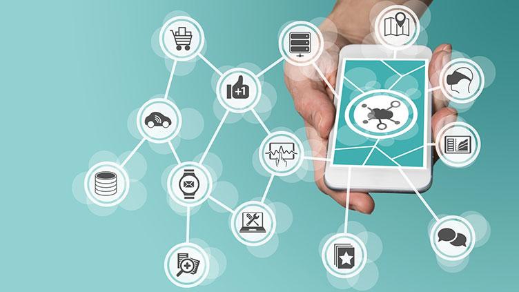 Das Smartphone ist mit vielen Bereichen vernertzt (Symbolbild für die Entwicklungen der Zukunft)