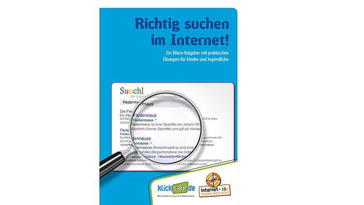 """Ausschnitt der Frontseite der Broschüre: """"Richtig suchen im Internet"""""""