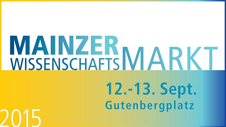 Schriftzug Mainzer Wissenschaftsmarkt 2015