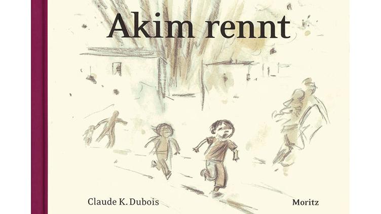 """Bleistiftzeichnung: Kinder rennen. Titel: """"Akim rennt"""""""