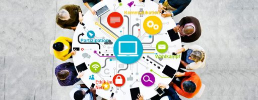 Menschen an einem runden Tisch: Symbolbild für die Fachtagung Digital 2020