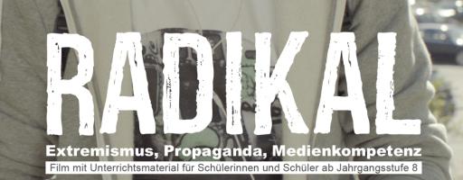 """Ausschnitt des Coverbildes: Der Protagonist Simon ist zu sehen. Davor der Titel des Films: """"Radikal""""."""