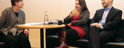 Digitize or die? Dr. Barbara Kappenberg im Gespräch mit Prof. Dr. Doris Aschenbrenner und Dr. Ralph Müller-Eiselt