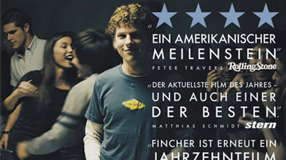 """Titelbild des Film """"The Social Network"""". Mit Mark Zuckerberg"""
