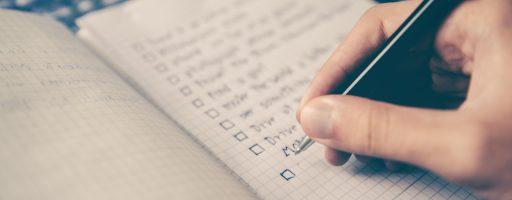 Lernen Checkliste Notizbuch