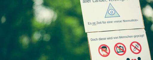 Extremisten - Verschwörungstheorien - Verschwörungserzählungen - Demo Nürnberg - Plakat