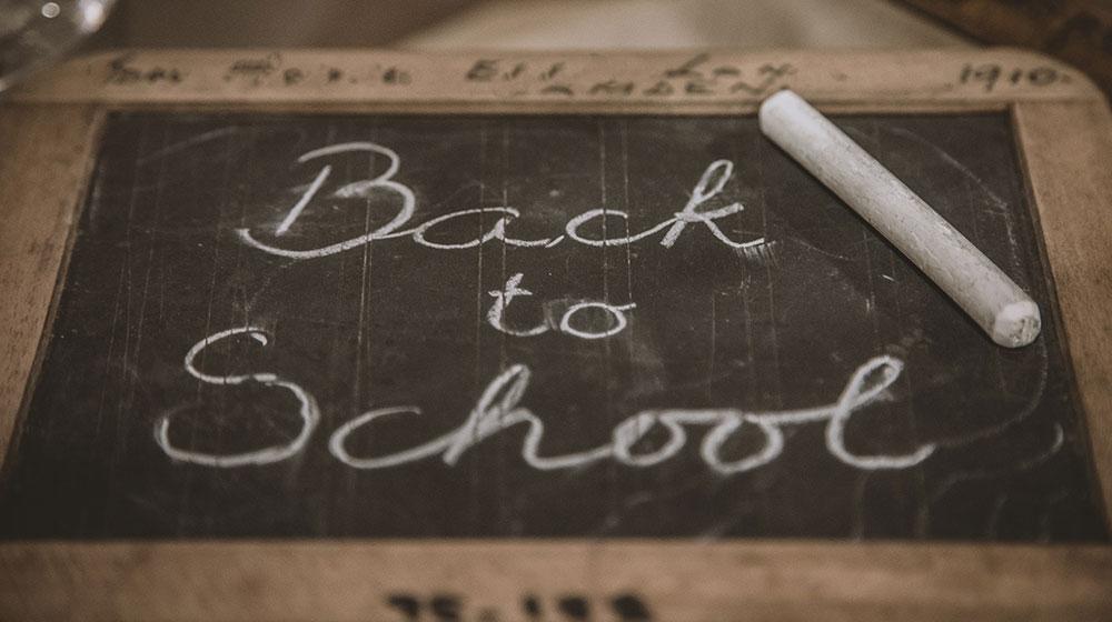 Kreidetafel Back to school - Zurück zur Schule