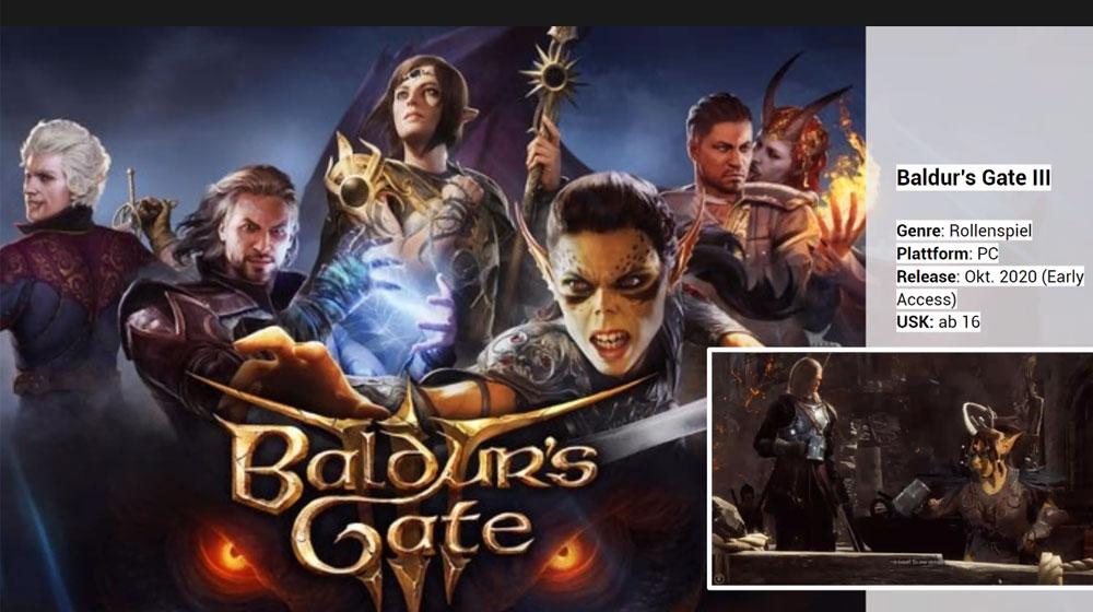 Screenshot des Spiels Baldur's Gate