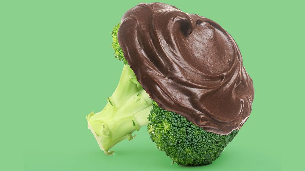 Brokkoli mit Schokolade