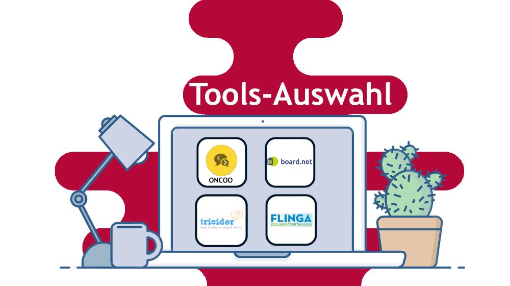 Tools Auswahl auf Laptop
