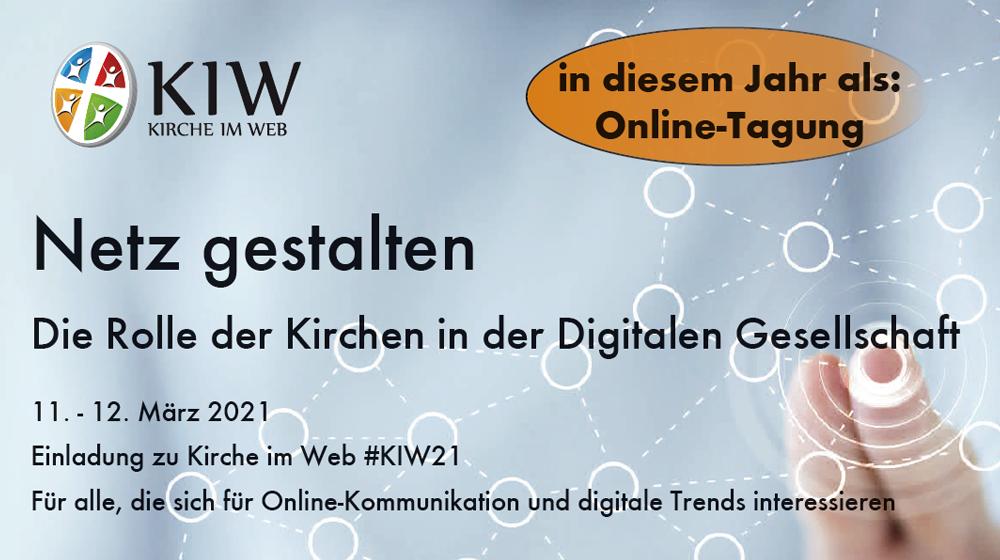 Netz gestalten Kirche im Web 2021 - Ausriss Tagungsflyer