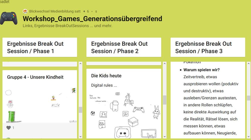 #mepodi - Workshop 1 Generationsübergreifendes Arbeiten zu und mit Digitalen Spielen
