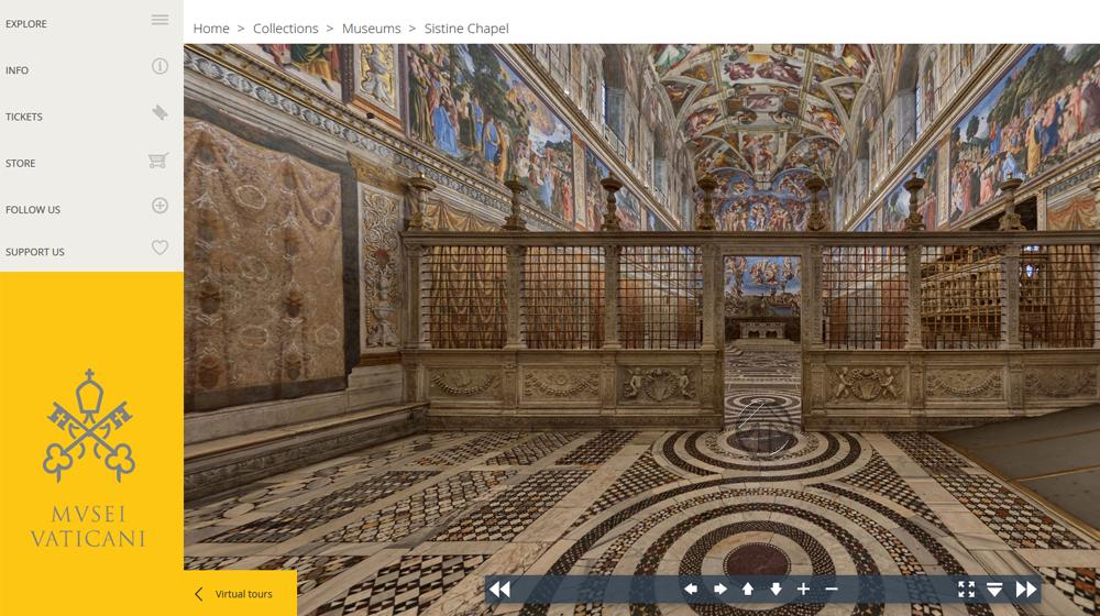 360°-Tour durch die Sixtinische Kapelle – #mepps20