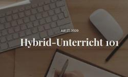 Hybrid-Unterricht