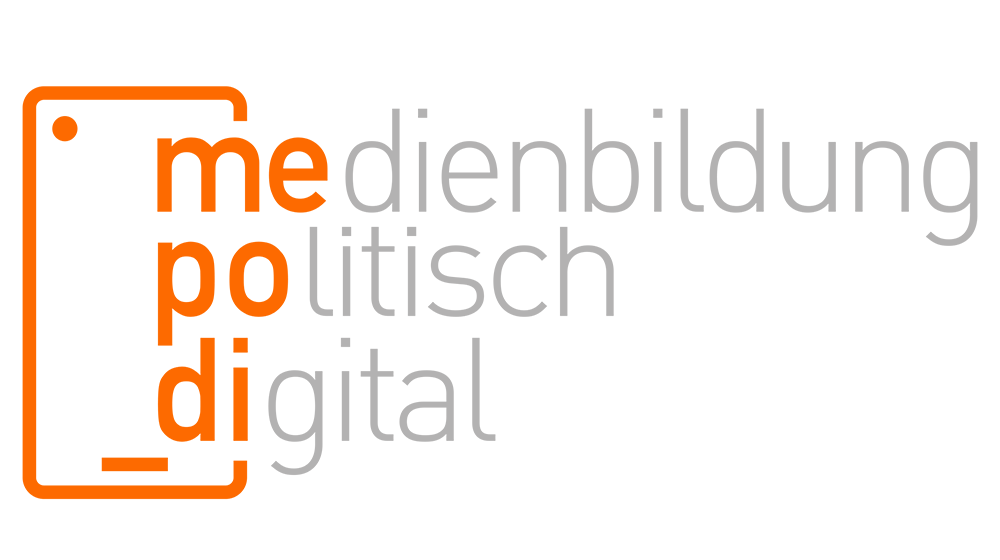Logo mepodi - Medienbildung - politisch und digital
