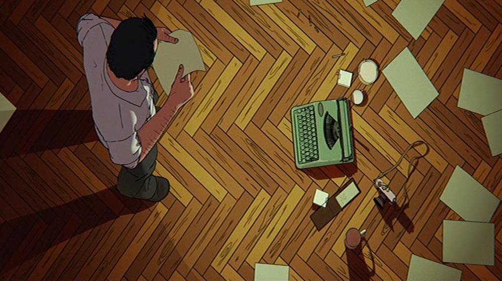 Riccardo mit Schreibmaschine